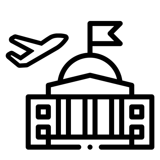 diplomatic and military flights